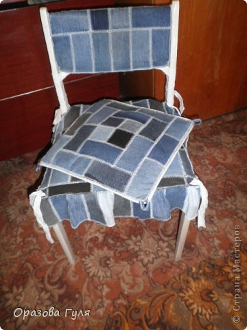 Чехол из лоскутков на стул своими руками