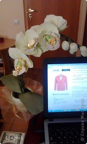 Свит-дизайн Моделирование Орхидея зацвела Бумага фото 2.