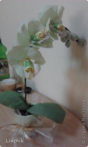 Свит-дизайн Моделирование Орхидея зацвела Бумага фото 3.