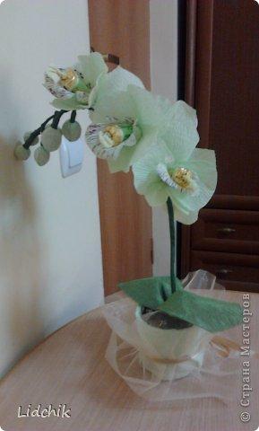 Свит-дизайн Моделирование Орхидея зацвела Бумага фото 4.
