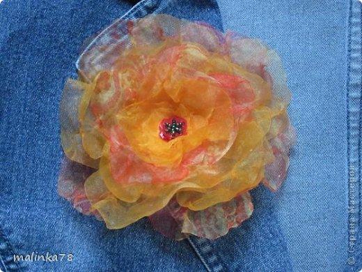 Декор предметов Мастер-класс Бисероплетение Вышивка Цветок из бисера для оформления сердцевины цветов из ткани MK...