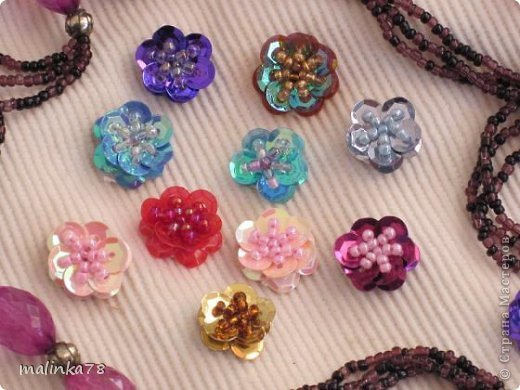 сердцевины цветов из ткани