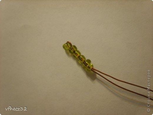 Мастер-класс Бисероплетение примула Ключик к солнцу Бисер фото 6.
