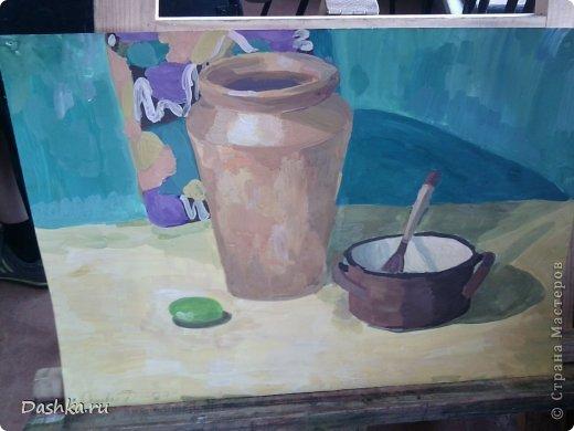 Сегодня я хочу показать вам свои контрольные работы за 1-ый класс в художественной школе. Это моя живопись.
