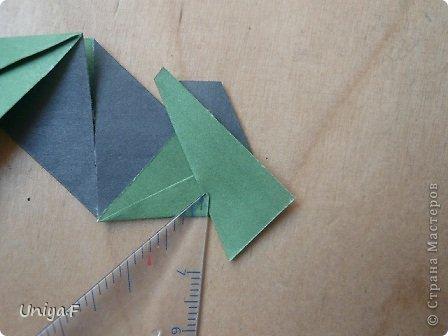 """Добрый день, коллеги!  И так, приступаю к обвальному затуториаливанию.  Незапланированный опрос общественного мнения показал, что эта кусудама наиболее желанна. С нее и начнем. МК в студию!   Name: Milisenta collection """"Ribbon Flowers""""  Designer: Uniya Filonova  Units: 30  Paper: 3*15 cm (1:5) Final height: ~ 9 cm  Joint: no glue фото 12"""