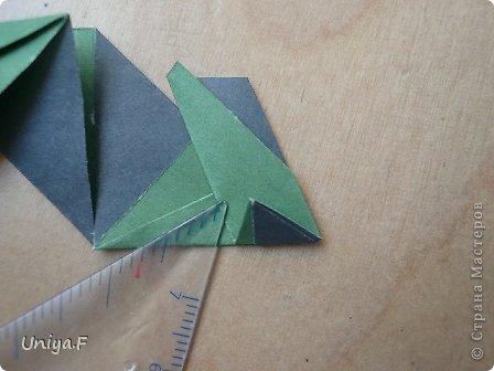 """Добрый день, коллеги!  И так, приступаю к обвальному затуториаливанию.  Незапланированный опрос общественного мнения показал, что эта кусудама наиболее желанна. С нее и начнем. МК в студию!   Name: Milisenta collection """"Ribbon Flowers""""  Designer: Uniya Filonova  Units: 30  Paper: 3*15 cm (1:5) Final height: ~ 9 cm  Joint: no glue фото 14"""