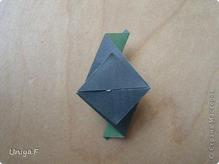 """Добрый день, коллеги!  И так, приступаю к обвальному затуториаливанию.  Незапланированный опрос общественного мнения показал, что эта кусудама наиболее желанна. С нее и начнем. МК в студию!   Name: Milisenta collection """"Ribbon Flowers""""  Designer: Uniya Filonova  Units: 30  Paper: 3*15 cm (1:5) Final height: ~ 9 cm  Joint: no glue фото 19"""