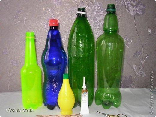 Мастер-класс Вырезание Фиалки из пластиковых бутылок Бутылки пластиковые фото 2