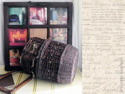 Декор предметов Картина панно рисунок Аппликация Плетение Новая жизнь брошенных вещей Картон Мешковина Трубочки бумажные фото 7
