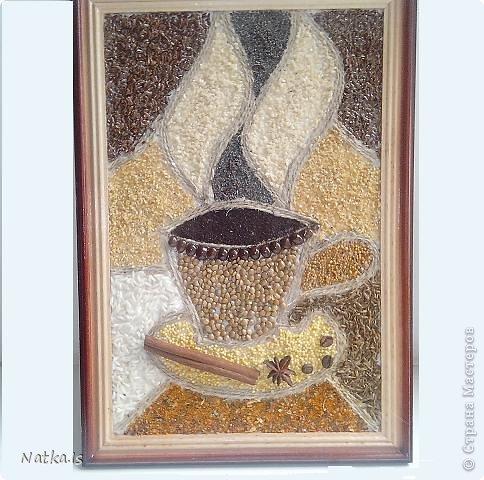 Картины на кухню из круп