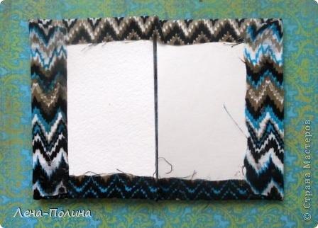 Мастер-класс Скрапбукинг Ассамбляж Шитьё Тканевая обложка на паспорт МК Бумага Клей Ткань фото 5