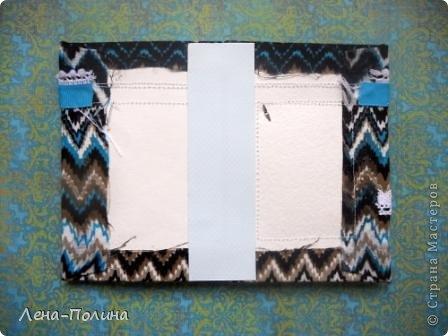 Мастер-класс Скрапбукинг Ассамбляж Шитьё Тканевая обложка на паспорт МК Бумага Клей Ткань фото 11