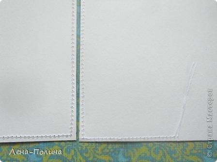 Мастер-класс Скрапбукинг Ассамбляж Шитьё Тканевая обложка на паспорт МК Бумага Клей Ткань фото 13