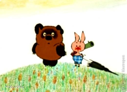 Как Вы догадались уже, на этот раз я валяла героев мультфильма про Винни Пуха. Пятачок вышел чуть больше, чем ожидалось, но оба героя - совсем малютки, около 9 см роста. фото 2