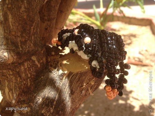 Поделка изделие Бисероплетение Лось Слоны Панда Бисер фото 6.