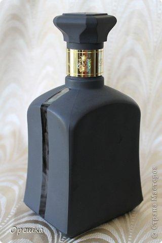 Поделка изделие Бумагопластика Пейп- арт бутылочка Салфетки фото 3