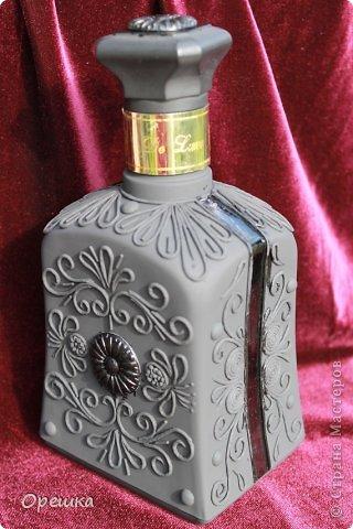 Поделка изделие Бумагопластика Пейп- арт бутылочка Салфетки фото 8