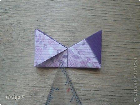"""Большой привет!  Очередной МК. Кусудама """"Зимняя вишня"""". Мне она очень нравится: воздушная, колючая, цветущая. Плюс простая сборка.  Name: Winterсherry collection """"Ribbon Flowers"""" Designer: Uniya Filonova Units: 30 Paper: 2,9 * 15 sm  Final height: ~ 10,5 sm Joint: no glue фото 13"""