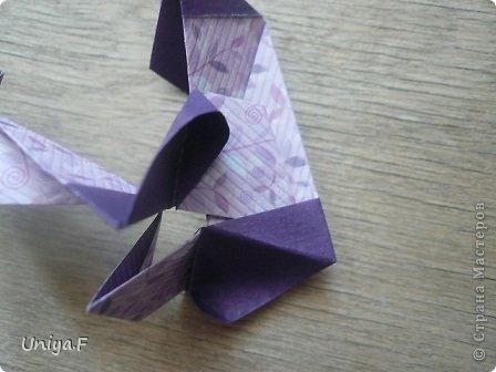 """Большой привет!  Очередной МК. Кусудама """"Зимняя вишня"""". Мне она очень нравится: воздушная, колючая, цветущая. Плюс простая сборка.  Name: Winterсherry collection """"Ribbon Flowers"""" Designer: Uniya Filonova Units: 30 Paper: 2,9 * 15 sm  Final height: ~ 10,5 sm Joint: no glue фото 16"""
