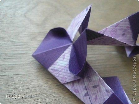 """Большой привет!  Очередной МК. Кусудама """"Зимняя вишня"""". Мне она очень нравится: воздушная, колючая, цветущая. Плюс простая сборка.  Name: Winterсherry collection """"Ribbon Flowers"""" Designer: Uniya Filonova Units: 30 Paper: 2,9 * 15 sm  Final height: ~ 10,5 sm Joint: no glue фото 17"""