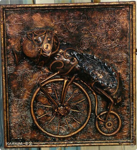 Картина панно рисунок Мастер-класс Цокотуха Бумага Клей Кожа Материал бросовый Проволока фото 1