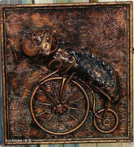 Картина панно рисунок Мастер-класс Цокотуха Бумага Клей Кожа Материал бросовый Проволока фото 17