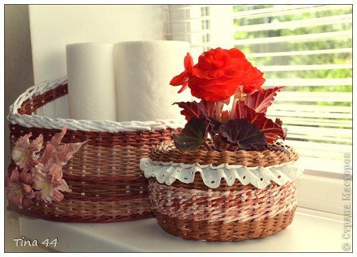 Поделка изделие Плетение Нужные плетеные мелочи Бумага газетная Трубочки бумажные фото 11.