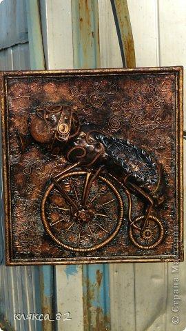 Картина панно рисунок Мастер-класс Цокотуха Бумага Клей Кожа Материал бросовый Проволока фото 18