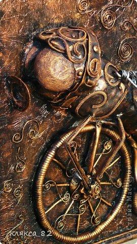 Картина панно рисунок Мастер-класс Цокотуха Бумага Клей Кожа Материал бросовый Проволока фото 11