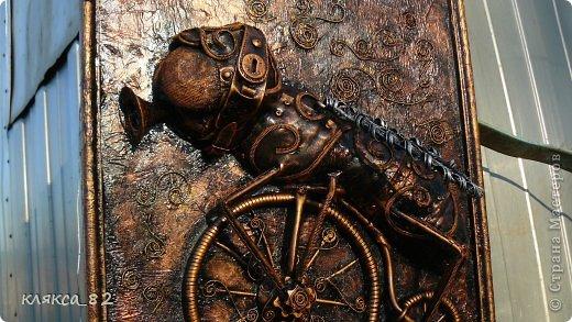 Картина панно рисунок Мастер-класс Цокотуха Бумага Клей Кожа Материал бросовый Проволока фото 12