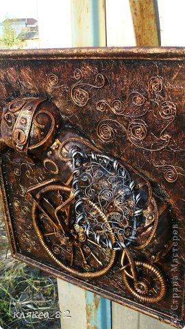 Картина панно рисунок Мастер-класс Цокотуха Бумага Клей Кожа Материал бросовый Проволока фото 14