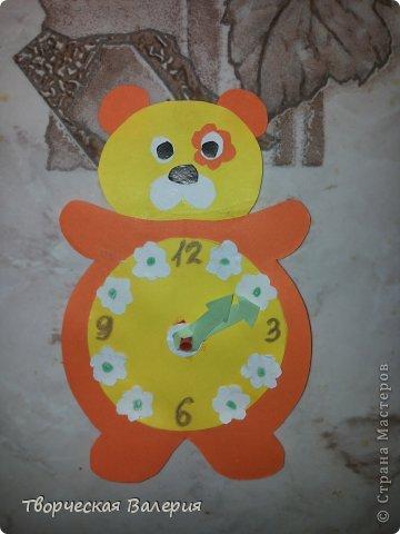 Поделки из цветной бумаги мишка часы