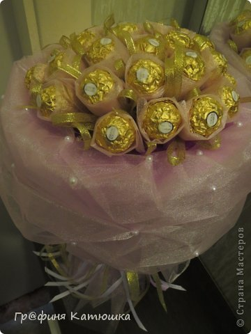 Мой первый органзовый букет из 27 роз для сестёнки!)) фото 2