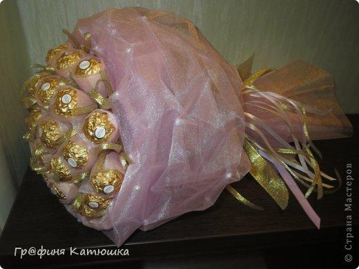 Мой первый органзовый букет из 27 роз для сестёнки!)) фото 3