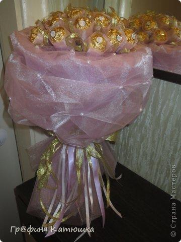 Мой первый органзовый букет из 27 роз для сестёнки!)) фото 4