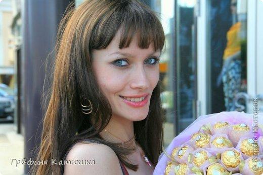 Мой первый органзовый букет из 27 роз для сестёнки!)) фото 5