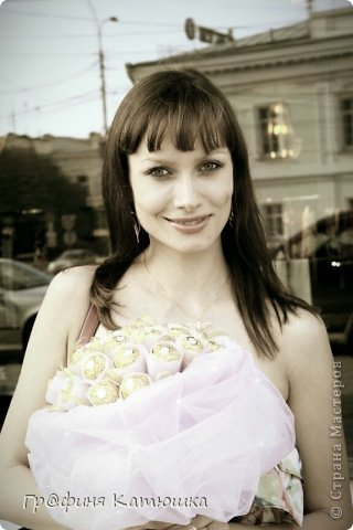 Мой первый органзовый букет из 27 роз для сестёнки!)) фото 6