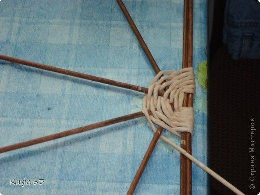 Плетение МК полукруглого дна Трубочки бумажные фото 5