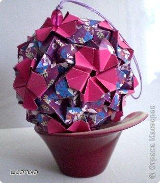 Очень люблю цветочные кусудамы И вот еще две сделала Автор Юна Филонова  Name:Wild Rosa Parts.30+30 5,5х5.5 7,5х7,5 фото 2