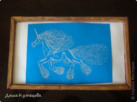 Лошадка на картоне фото 1
