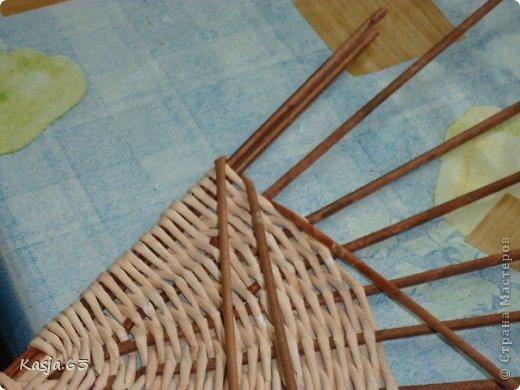 Плетение МК полукруглого дна Трубочки бумажные фото 9