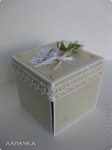 Приветствую всех заглянувших! Хочу поделиться своим очередным творческим достижением. Моя дебютная коробочка с сюрпризом. Как долго я не решалась браться за подобную работу, но попробовав,уже не могла остановиться-захватывает! Коробочку делала в подарок на свадьбу. Удался или нет мой дебют решать вам. фото 1