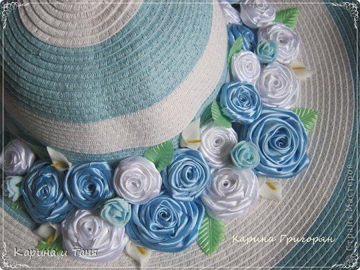 Здравствуйте мастера и мастерицы!!! Хочу Вам показать как я украсила шляпу.С детства мечтала иметь шляпу украшенную цветами. И вот моя мечта сбылась!!!!! фото 3