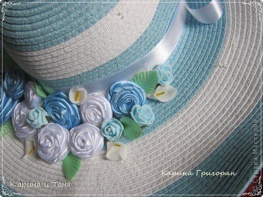 Здравствуйте мастера и мастерицы!!! Хочу Вам показать как я украсила шляпу.С детства мечтала иметь шляпу украшенную цветами. И вот моя мечта сбылась!!!!! фото 5