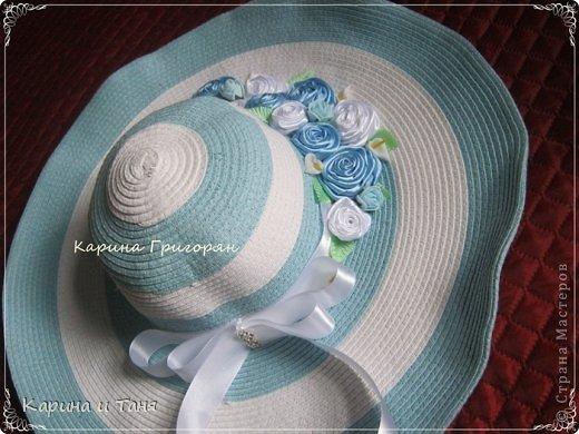Здравствуйте мастера и мастерицы!!! Хочу Вам показать как я украсила шляпу.С детства мечтала иметь шляпу украшенную цветами. И вот моя мечта сбылась!!!!! фото 1