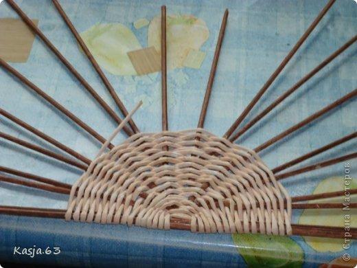 Плетение МК полукруглого дна Трубочки бумажные фото 8