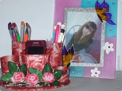 Приветствую вас, жители СМ! Вот такой органайзер для ручек и прочей мелочевки сделала для дочки. фото 4