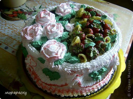 Сестра мужа испекла мне тортище:) фото 1