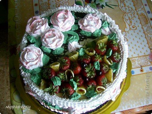 Сестра мужа испекла мне тортище:) фото 2