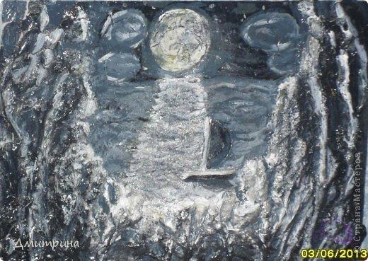 Эта картина появилась благодаря мастер-классу ДаВалентины https://stranamasterov.ru/node/367615. Первая картина в технике терра.